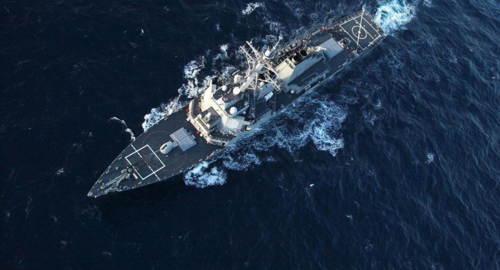 美国军舰昨日穿越台湾海峡 半个月前曾擅闯中国西沙领海被警告驱离