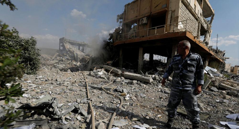 在大马士革被美国轰炸的研究中心