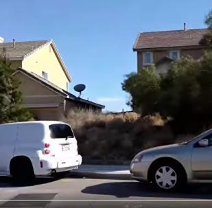 美國加州城市受風滾草襲擊