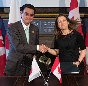 日本和加拿大簽署提供軍事技術設備協定