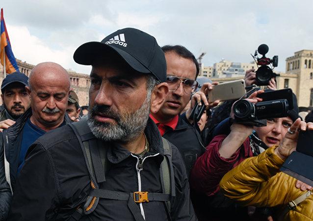 亚美尼亚反对派领袖尼科尔·帕希尼扬