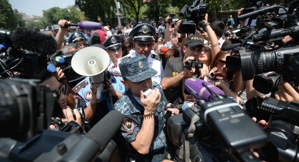 亚美尼亚执法人员在埃里温逮捕228名示威者