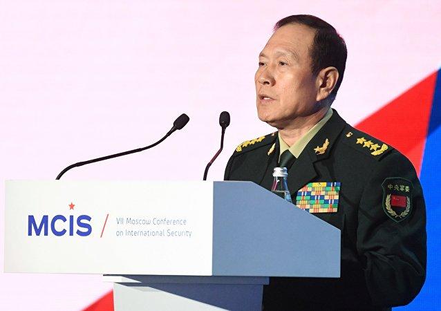 中央军委委员、中国国务委员兼国防部长魏凤和