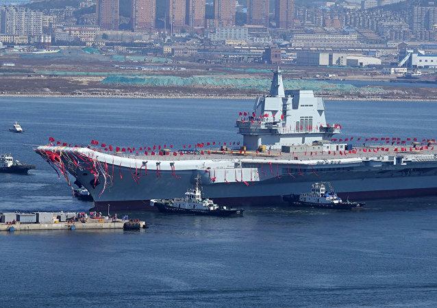 中國第二艘航母完成首次海上試驗任務