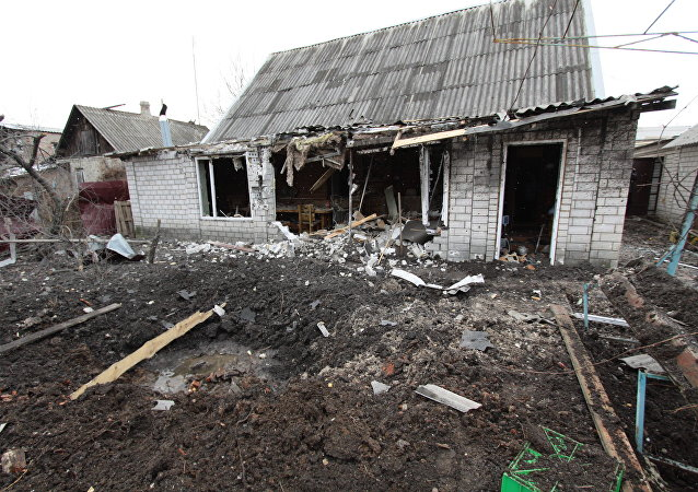 顿涅茨克郊区小城亚西诺瓦塔亚