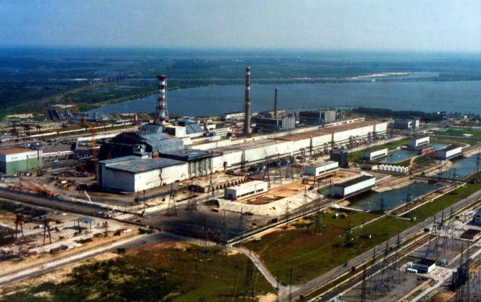 俯瞰切爾諾貝利核電站,烏克蘭,2007年