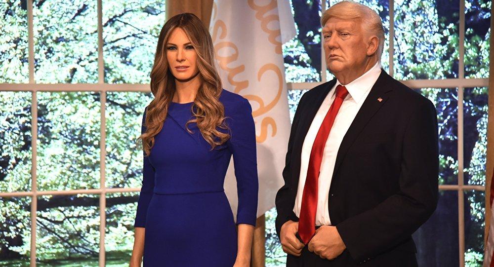 梅拉尼娅·特朗普的蜡像出现在纽约杜莎夫人蜡像馆