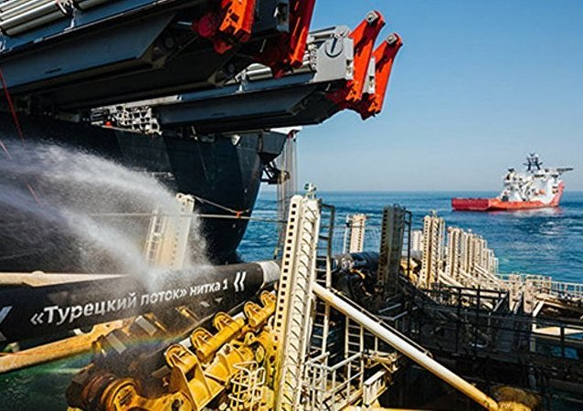 """俄气公司结束""""土耳其流""""第一条支线建设"""