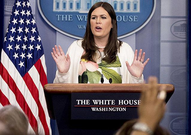 美国白宫发言人莎拉•桑德斯