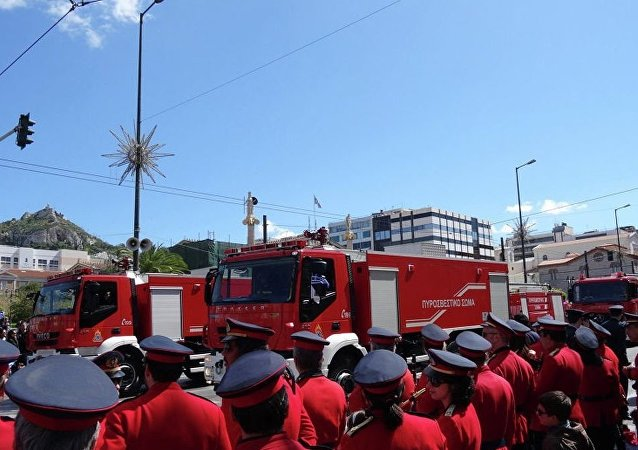 希腊的消防车