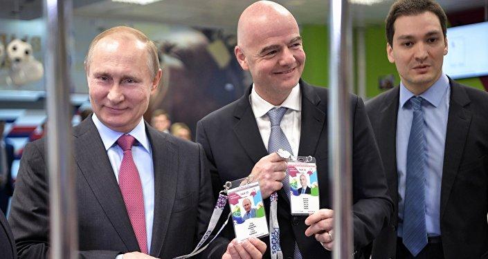 普京獲得球迷護照