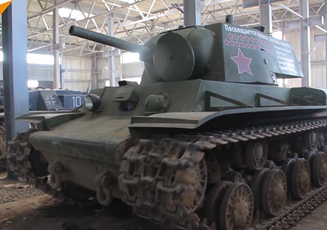 白俄羅斯修復偉大衛國戰爭時期坦克