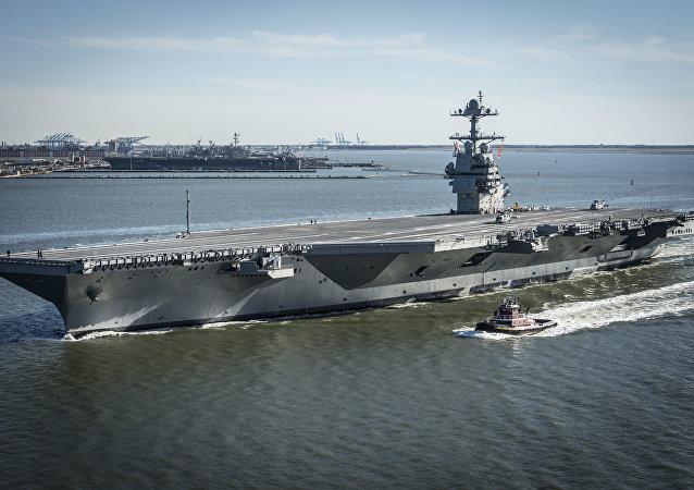 """美国史上造价最高航空母舰""""杰拉尔德·R·福特""""号"""