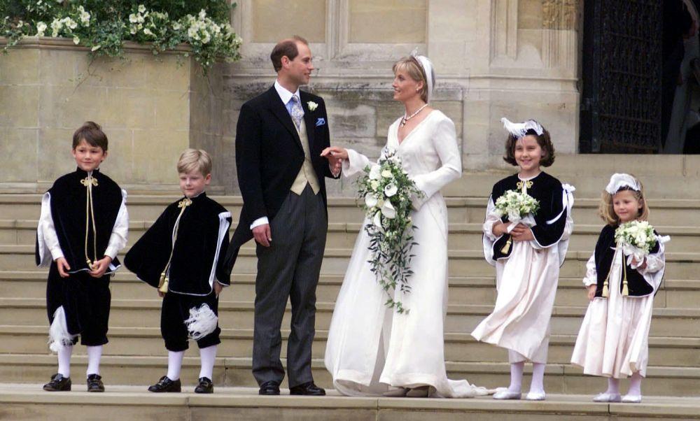 伊丽莎白二世的小儿子爱德华王子与妻子