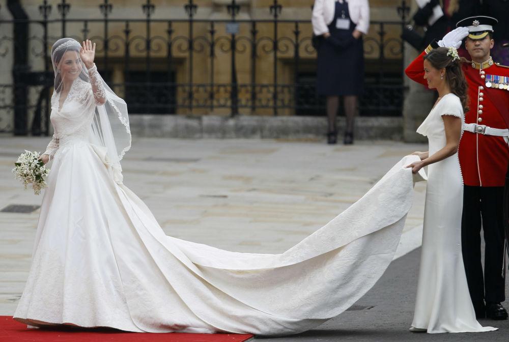 凯特·米德尔顿在伦敦举行的婚礼上