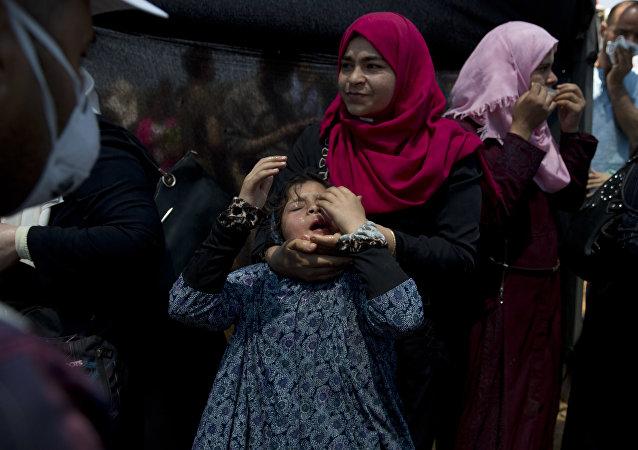 克宫对巴以冲突造成数十名巴勒斯坦人死亡深表不安