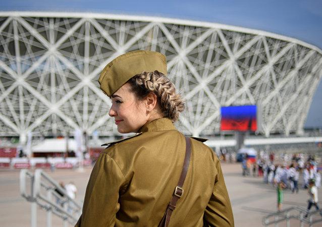 在伏尔加格勒州的世界杯足球赛比赛日将会是本地区的假日