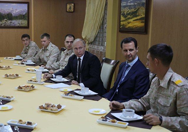佩斯科夫称普京在索契会见阿萨德