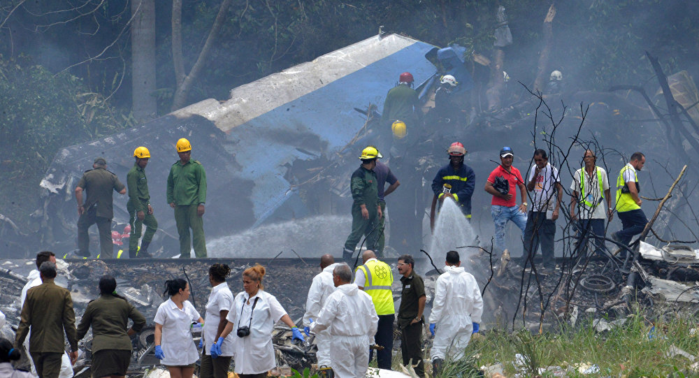 搭载上百名乘客的飞机在古巴坠毁