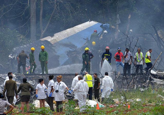 媒体:古巴空难三名幸存者状况稳定但仍有生命危险