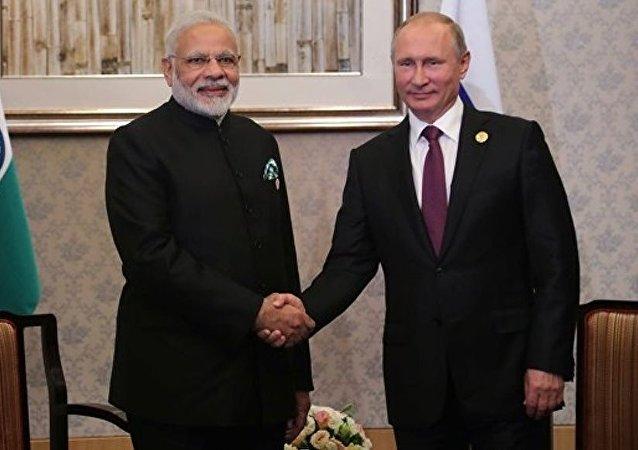 莫迪期待与普京的会晤将加强两国战略伙伴关系