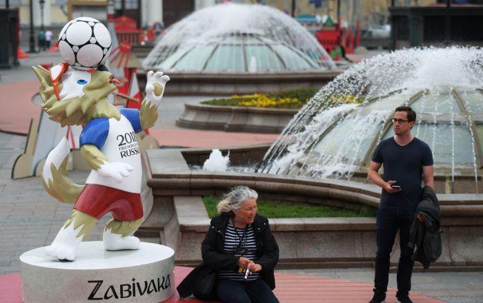莫斯科盛装迎世界杯