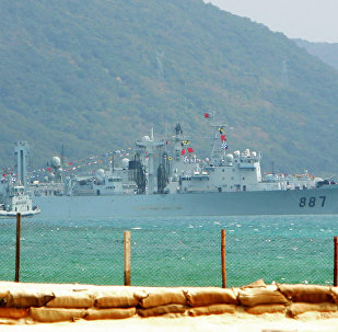 Chinese naval base in Sanya, southern China's Hainan island