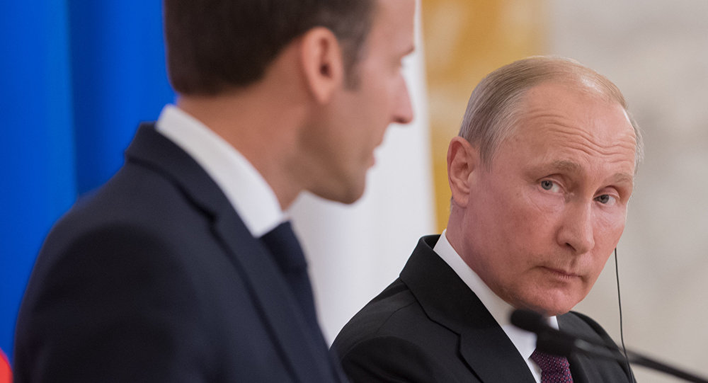 马克龙:俄法正制订继续合作的路线图