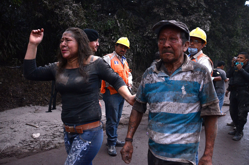 危地马拉火山喷发