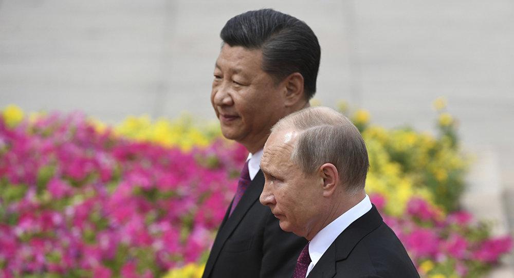 普京在与习近平会晤时称俄中合作关系达到前所未有的水平