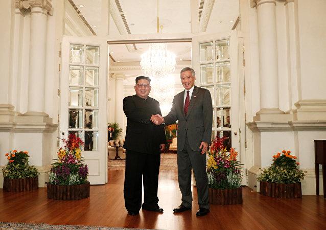 金正恩已經與新加坡總理見面
