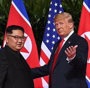 特朗普公开向金正恩展示的视频短片 内容关于朝鲜未来
