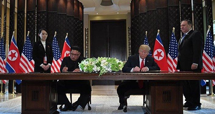 特朗普与金正恩签署新加坡峰会总结性文件