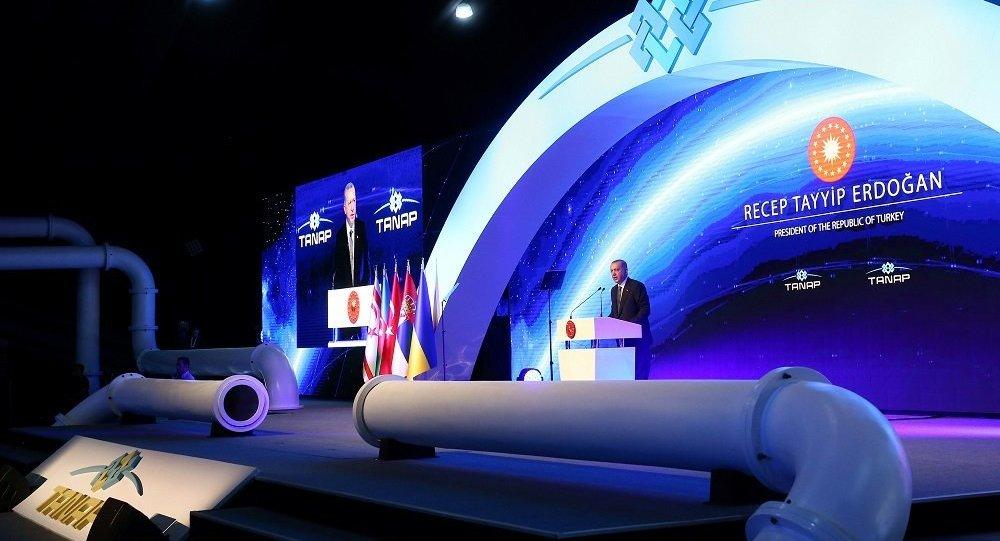 跨安纳托利亚天然气管道在土耳其正式开通