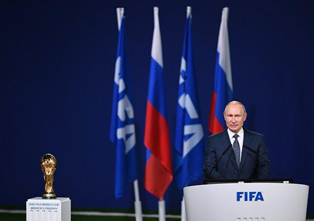 2018世界杯開幕前夕,普京表示,俄羅斯已準備好舉辦世界杯足球賽,並為所有球迷提供舒適的環境