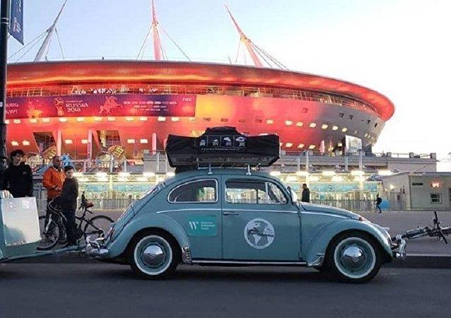 駕駛大眾甲殼蟲車來看世界杯的巴西球迷講述俄羅斯印象