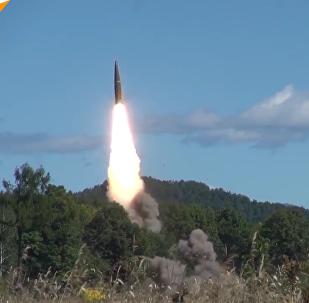 """俄国防部公布""""伊斯坎德尔""""弹道导弹发射视频"""