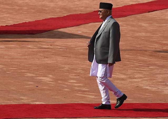 尼泊尔总理卡德加•普拉萨德•夏尔马•奥利