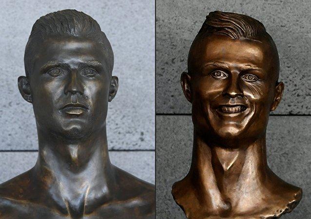 馬德拉島機場C羅半身像被換 新銅像更逼真
