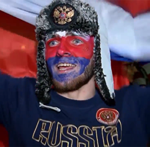 球迷慶祝俄羅斯隊兩連勝