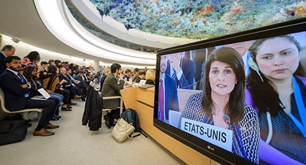 俄方认为联合国人权理事会不会因美国的退出而遭到损失