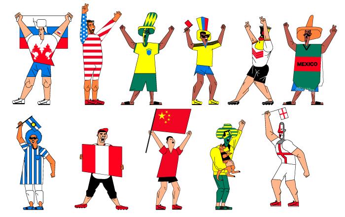 球迷,你来自哪个国家?