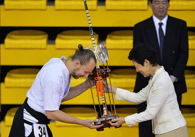 日本宪仁亲王妃久子为叶卡捷琳堡弓道示范演出致开幕辞