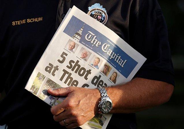 美国马里兰州一报社枪击案后新一期刊发行