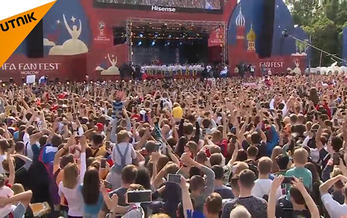 俄罗斯队举行盛大答谢仪式