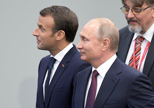 克宫:普京与马克龙将在会谈中讨论欧洲安全和俄欧合作等问题