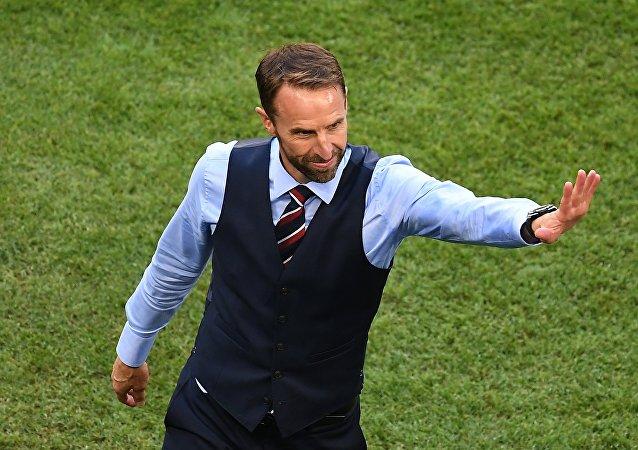 英格兰国家足球队主教练加雷斯•索斯盖特