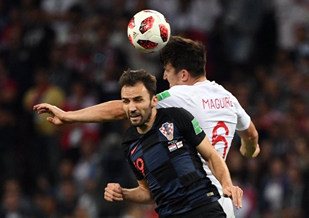 克罗地亚国家队在世界杯半决赛的加时期间战胜英格兰足球队
