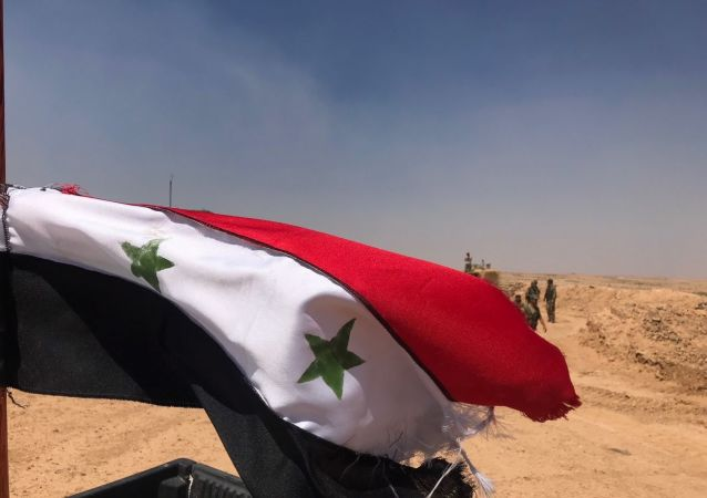 叙利亚政府军在德拉市升起国旗
