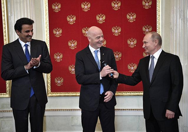 普京:俄罗斯对世界杯足球赛举办状况感到骄傲